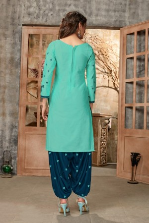 SkyBlue Glaze Cotton Dress Material