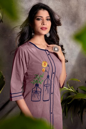 Light Purple Heavy South Cotton Top with Bottom
