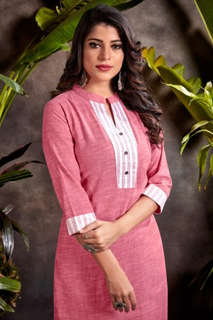 Pink Heavy South Cotton Top with Bottom
