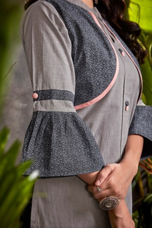 Light Grey Heavy South Cotton Top with Bottom