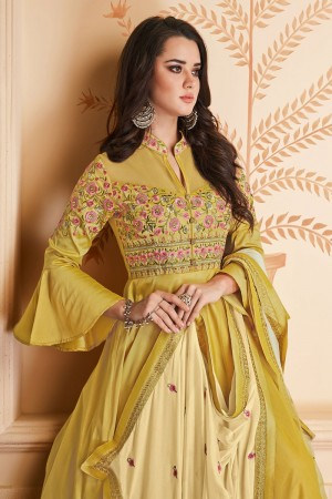 Yellow Heavy Soft Silk Salwar Kameez