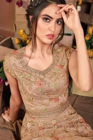 Chiku Butterfly Net Salwar Kameez