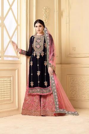 Aspiring Black Heavy Georgette Heavy Embroidery Sarara Suit