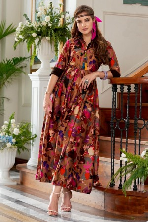 Lavish Multicolor Rayon Print Fancy Pattern Kurti