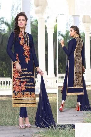 Voguish Royal Blue Georgette Salwar Kameez