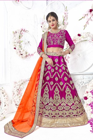 Picturesque Ranipink Net Heavy Embroidery and Hand Work Lehenga Choli