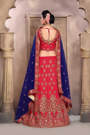 Breezy Rich Pink Mulberry Silk Designer Heavy Embroidery Work Lehenga Choli