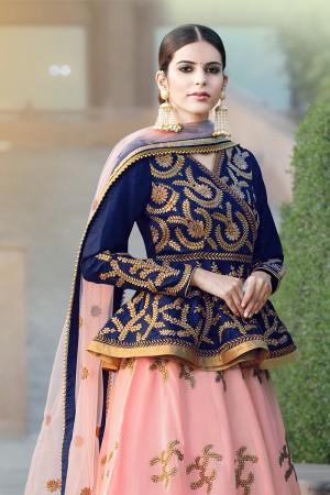 Dashing Peach Banglori Silk Designer Heavy Embroidery Lehenga Choli