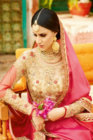 Designer Pink Georgette Heavy Embroidery Badala Zari and Sequance Work  Saree with Blouse