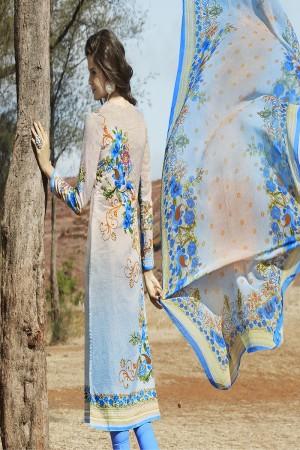 Affluent Multicolor Cotton Digital Print Embroidery Dress Marerial