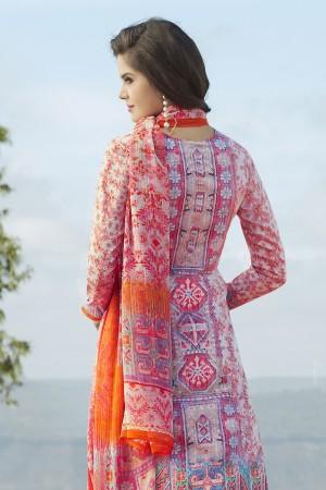 Brilliant Multicolor Cotton Digital Print Embroidery Dress Marerial