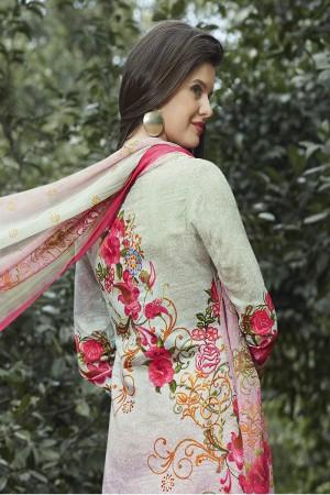 Creative Multicolor Cotton Digital Print Embroidery Dress Marerial