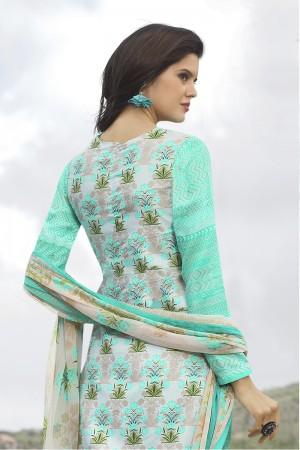 Enchanting Multicolor Cotton Digital Print Embroidery Dress Marerial