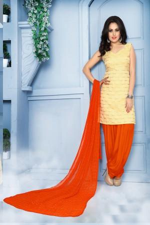 Vibrant Cream Pure Jequard Banarasi Silk Jacquard Banarasi Silk Dress Material