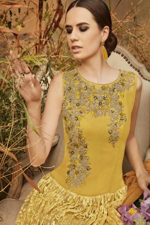 Distinctive Mustard Brasso Heavy Gota Embroidery  Salwar Kameez