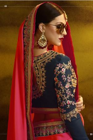 Captivating Red Silk Heavy Embroidery Badala Zari and Sequance Work  Saree
