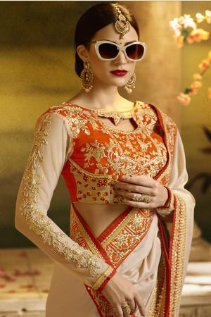 Luscious chiku Silk Heavy Embroidery Badala Zari and Sequance Work  Saree