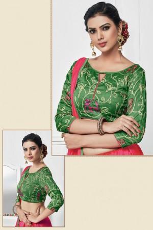 Enchanting Red Silk Plain Saree with Embroidery Blouse Saree