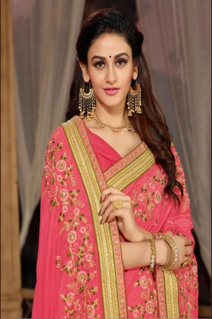 Light Pink Silk Saree with Blouse