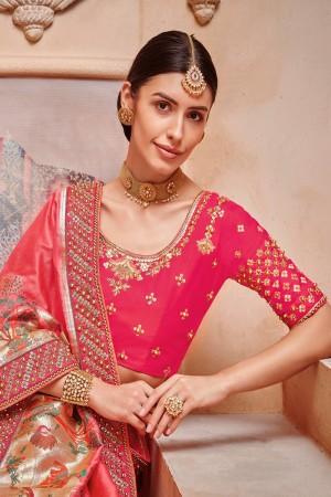 Gajari Silk Saree with Blouse