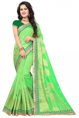 Liril Top Dyed Silk Jacquard Saree with Blouse