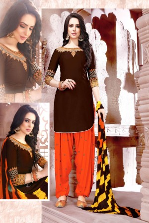 Coffee Glaze Cotton Dress Material