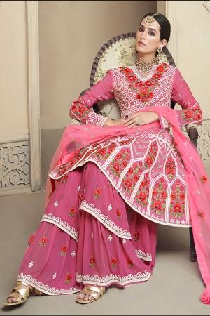 Pink Viscose Upada Salwar Kameez