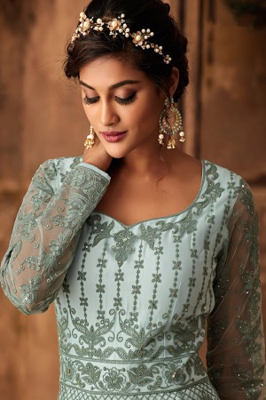 Aqua Net Anarkali Suit