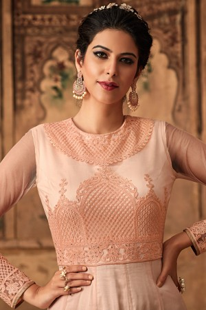Solomon Net Anarkali Suit