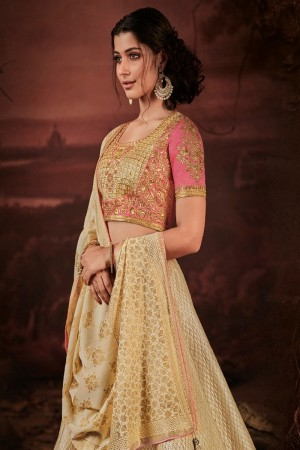Cream Imported Lehenga Choli