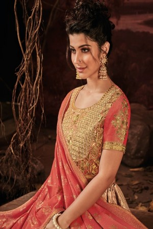Peach Imported Lehenga Choli