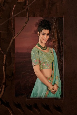 Mint Green Imported Lehenga Choli