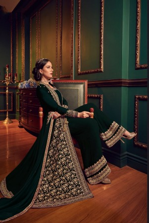 Dark Green Georgette Salwar Kameez