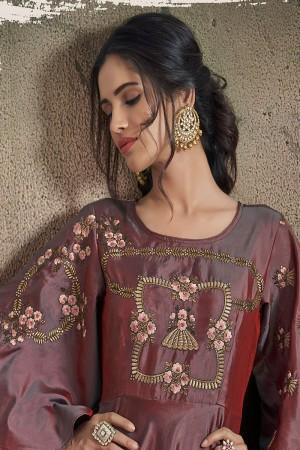 Mulberry Soft Taffeta Silk Salwar Kameez