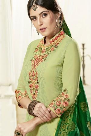 Pista Georgette Salwar Kameez