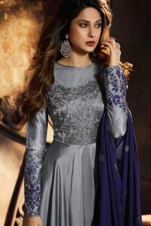 Jennifer Grey Satin Silk Salwar Kameez