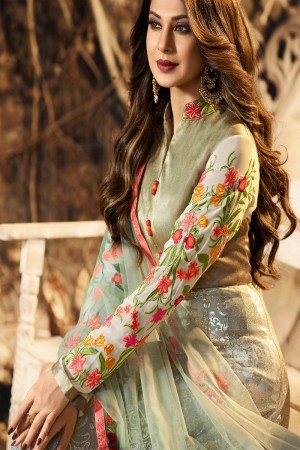 Jennifer Pista Green Lycra Salwar Kameez