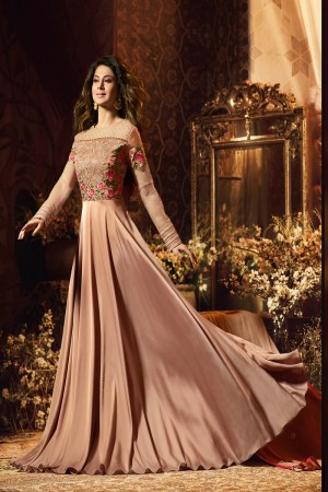 Jennifer Chocolate Satin Silk Salwar Kameez