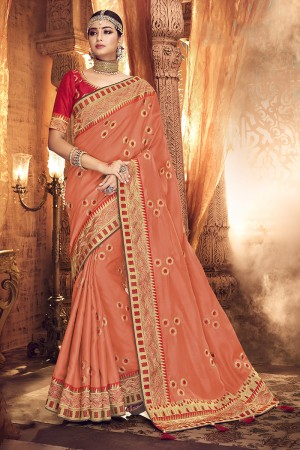 Fenta Satin Georgette Saree with Blouse