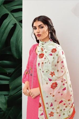 Pink Cotton Dress Material