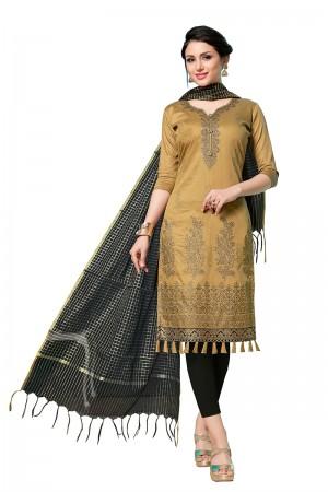 Golden Jam Cotton Dress Material