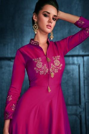 Rani Pink Soft Silk Salwar Kameez
