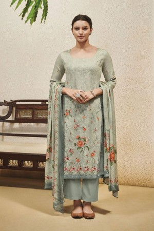 Pista Cotton Satin Salwar Kameez