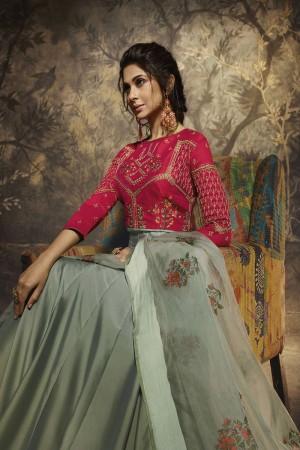 Jennifer Olive Silky Georgette Salwar Kameez