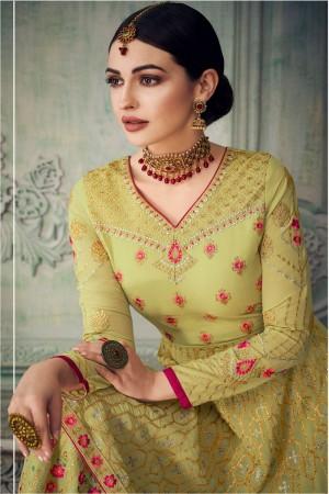 Lime Georgette Salwar Kameez