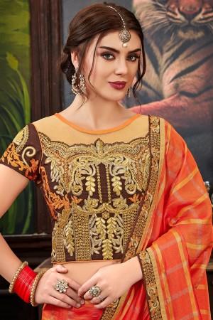 Fanta Silk Saree with Blouse