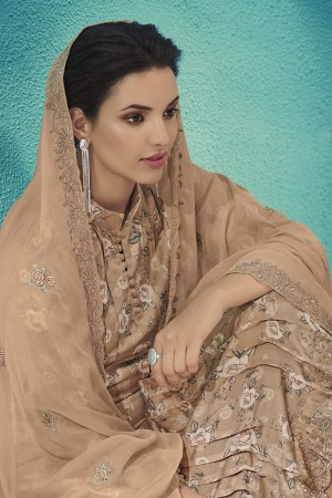 Chiku Cotton Satin Salwar Kameez