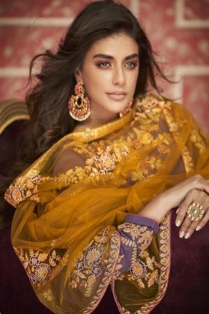 Iris Georgette Semi Stitch Salwar Kameez