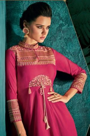 Rani Pink Silk Gown