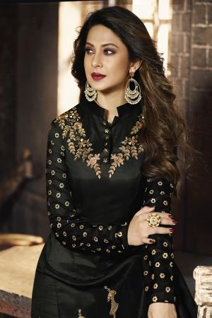 jennifer winget Black Silky Georgette Salwar Kameez